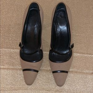 4cbb9cf27522 Coach cloth heels